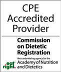 CPE Accredited Provider - Cornell NutritionWorks has met the American Dietetic Association (CDR) standards in providing continuing education to dietitians.